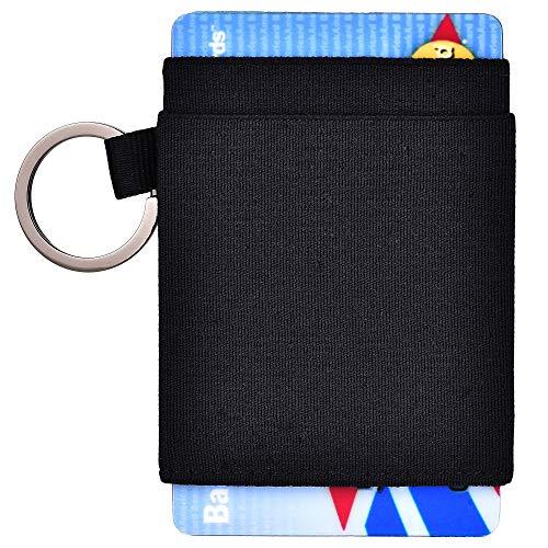 Kinzd Minimalist Slim Wallet - Elastic Front Pocket Credit Card Holder for Men