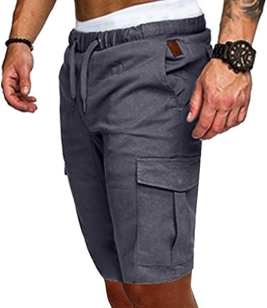 YEBIRAL Pantalones Cortos Hombre, Verano Pantalones Deportivos con ...