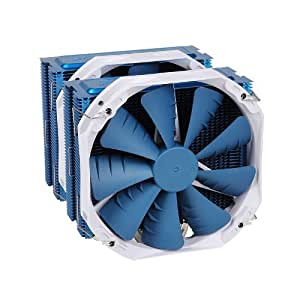 PHANTEKS PH-TC14PE_BL 5 x?8mm Dual Heat-Pipes Dual 140mm Premium Fans and Quiet CPU Cooler with Patented P.A.T.S Coating