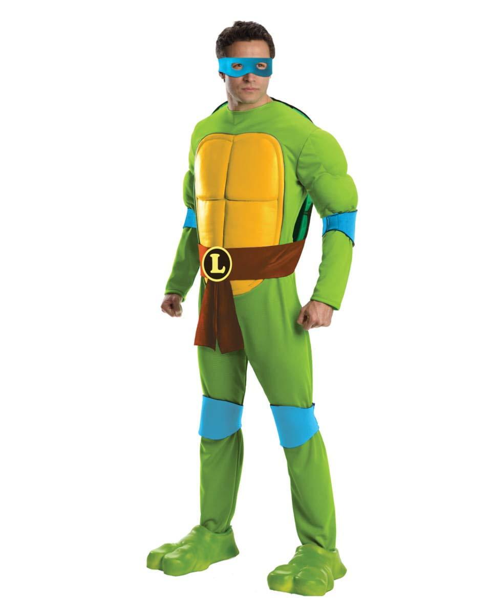 Horror-Shop TMNT Leonardo Kostüm Jumpsuit Deluxe One Size