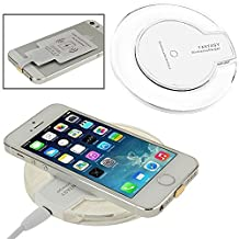 ONX3 (White Wireless Pad) Sony Xperia Z5 Premium Ultra Slim Universal Fast Charge QI Wireless Charger Pad Station with Slip Resistant Rubber Strip