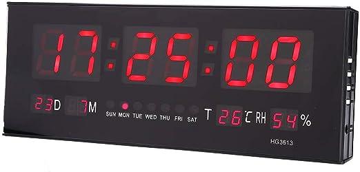 Electronic LED Digital Wall Clock w//Temperature Humidity Display Home Clocks *#