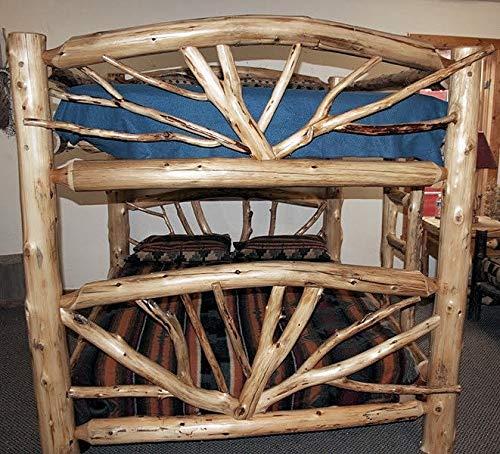 Log Bent Branch Bunk Bed (Twig Log Bed)