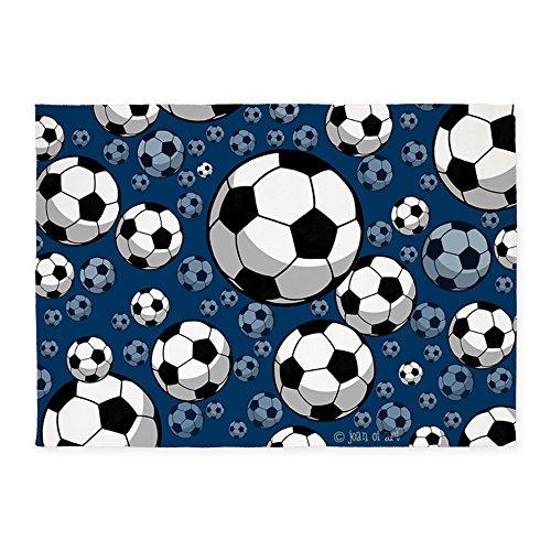 CafePress - Soccer 5'x7'Area Rug - Decorative Area Rug, 5'x7' Throw Rug by CafePress