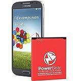 PowerBear Samsung Galaxy S4 Battery (2,600 mAh) Li-Ion Battery for the Galaxy S4 [I9500, I9505 LTE, I545 (Verizon), M919 (Tmobile), I337 (AT&T), L720 (Sprint)] | S4 Spare Battery [24 Month Warranty]