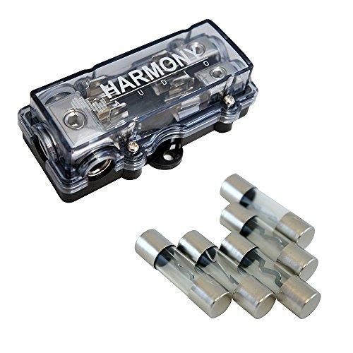 Harmony Audio HA-AGUFD2 Car 2-Way AGU Fused Distribution Block & 40 Amp Fuses