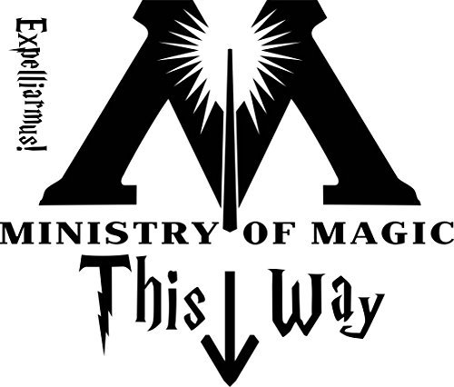 Apollo's Products Ministries of Magic - Harry Potter Compatible Wall Vinyl Decal for Toilet or Wall 9 X 12 Inches