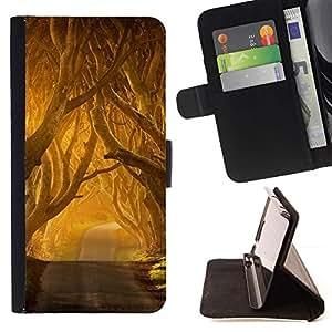 For Samsung Galaxy S5 V SM-G900 Case , Summer Sun Freedom Road Nature - la tarjeta de Crédito Slots PU Funda de cuero Monedero caso cubierta de piel