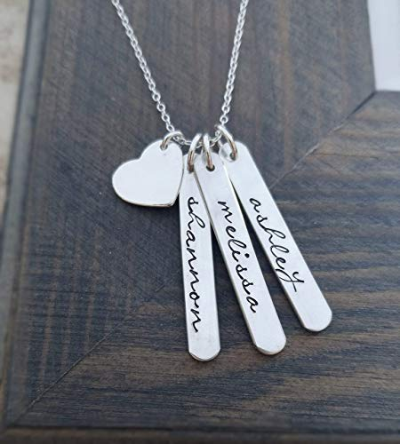 (Personalized Necklace With Hand Stamped Kids)