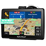 NAVRUF GPS Navigation for Car 7-inch Touchscreen+Driving Alarm, Voice Steering Navigation System,Built-in 8GB &256MB No Need to Insert a Card, Lifetime Free Map Updates