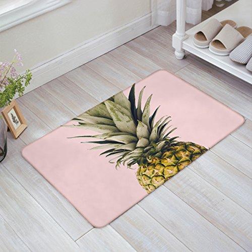 HomeCreator Pineapple Pink Door Mats Kitchen Floor Bath Entrance Rug Mat Absorbent Indoor Bathroom Decor Doormats Rubber Non Slip 32