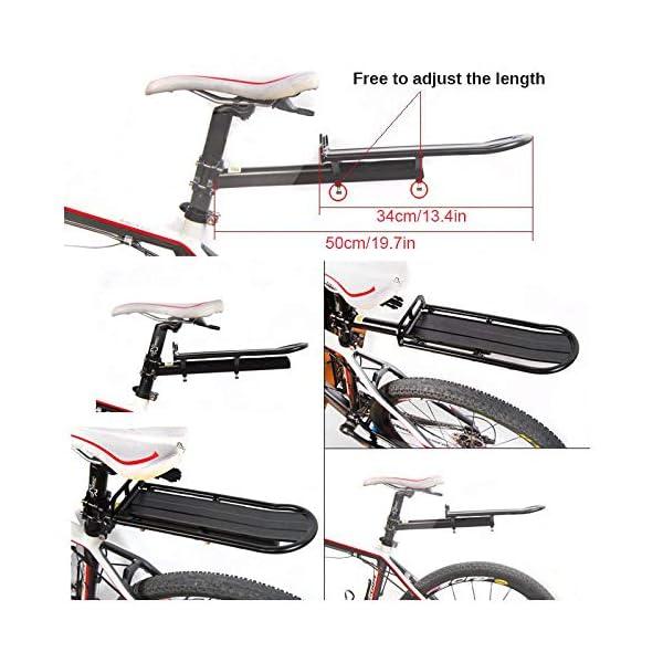 ThreeH Portapacchi Bici Regolabile in Alluminio Lega Rapida Rimozione e Installazione BK41 2 spesavip