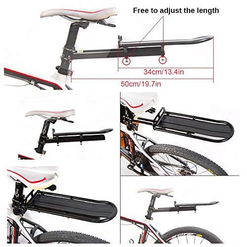 ThreeH Bicicleta Trasera Estante Aluminio Ciclismo Tija Estante Mountain Bike portaequipajes BK41