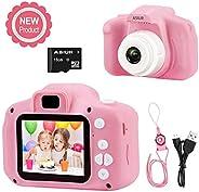 Digital Camera for Kids,ASIUR 1080P FHD Kid Digital Video Camera Children Camera with 16GB SD Card for 3-10 Ye