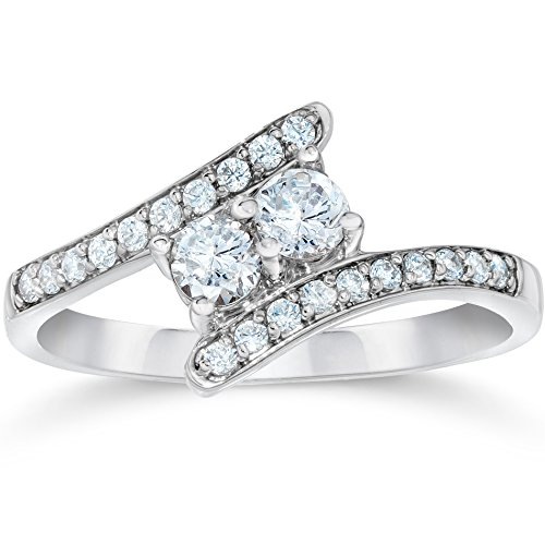 1/2CT Forever Us Diamond Two Stone Ring White Gold by Pompeii3 Inc.