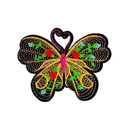Vi.yo 刺繍バタフライパッチ ワッペンアップリケ おしゃれ 女の子 服アクセサリー 装飾 DIY縫製用 ギフトの商品画像