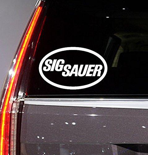 Personal Sig - Car Window Vinyl Sticker - Sig Sauer - Decal for Car Truck SUV Folder Laptop Computer (Sig Sauer White)