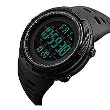 SKMEI Men's Digital Watch Large Face Sport Wristwatch Black
