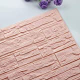 Pet1997 Self-adhesive 3D Brick Wall Sticker, DIY 3D Brick PE Foam Wallpaper Panels, Room Decal Stone Decoration For Home Living, Bedroom, Kitchen - 23.62Inch x 11.81Inch (E)