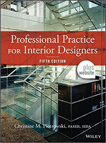 amazoncom professional practice for interior designers 8601400136966 christine m piotrowski books - The Interior Design Practice