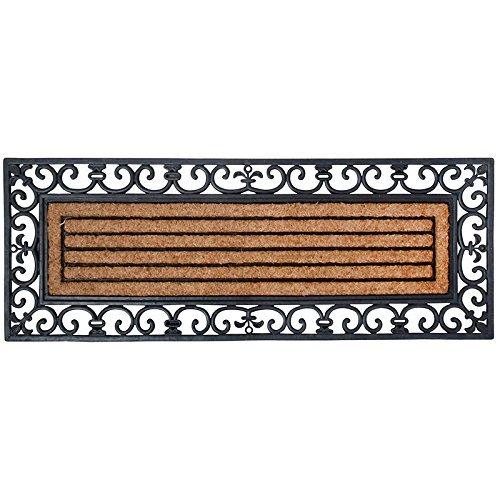 Mat Double Door - Esschert Design Rubber and Coir Doormat, X-Large