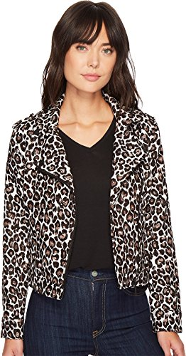 Sanctuary Women's Posion & Leopard Moto Jacket Leopard X-Small (Taupe Rose Jackets)
