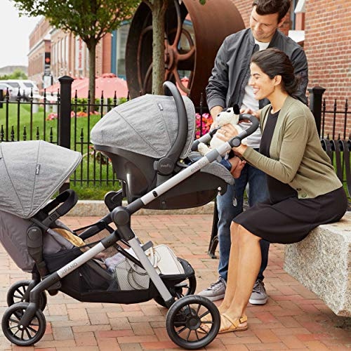 51SXOGqp41L - Pivot Xpand Modular Travel System With SafeMax Infant Car Seat, Stallion Black