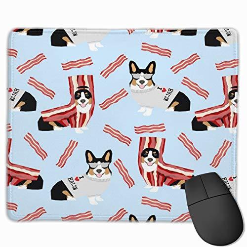 Tri Colored Corgi Fabric Corgis Love Bacon Fabric Design Cute Dog Costume Halloween The Mouse Pad 10