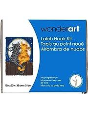 "WonderArt 426122 Latch Hook Kit, 15"" X 20"", Moonlight Meow"
