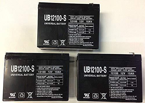 Universal Power Group 12V 10AH Replaces ElectricRider RoadRunner Bike Battery - 3 Pack