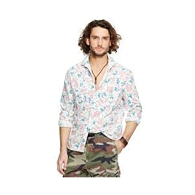 Denim \u0026 Supply Ralph Lauren Floral-Print Cotton Workshirt at Amazon Men\u0027s  Clothing store: