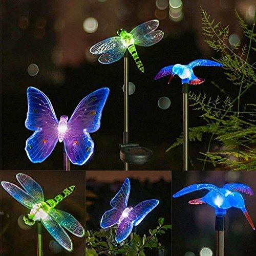Solar Power Animal Colorful LED Light Garden Landscape Decoration Waterproof Lamp (Random: Pattern)