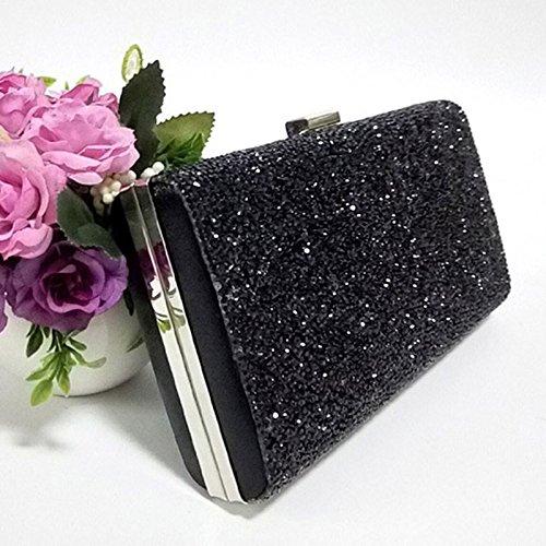 Noir Pour 5 Pochette D'embrayage Strass Sac 6cm Da 4 Soirée De Enveloppe 22 Sacs Pu D'anniversaire Paillettes Mariage Femme Silver Cuir 11 Wa Main Fête Cadeau À YwgxwvqF