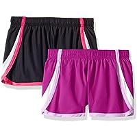Hanes Girls' Big Sport Woven Performance Running Short (Pack of 2),