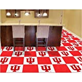 Fan Mats 8537 IU - Indiana University Hoosiers 18'' x 18'' Team Carpet Tiles (10 Logo, 10 Solid per Box - appx 45 sq ft)