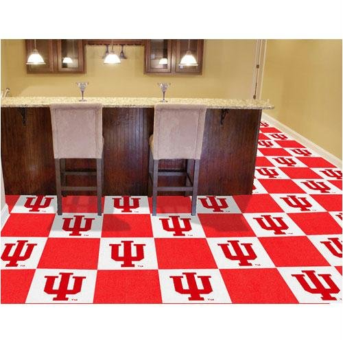 Fan Mats 8537 IU - Indiana University Hoosiers 18'' x 18'' Team Carpet Tiles (10 Logo, 10 Solid per Box - appx 45 sq ft) by Fanmats