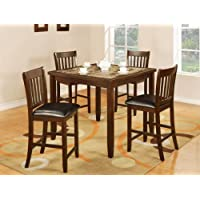 Primo International Kaelum Counter Height Espresso 5 Piece Dining Set