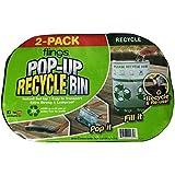 Flings Pop-up Recycle Bin Clear 2-pack
