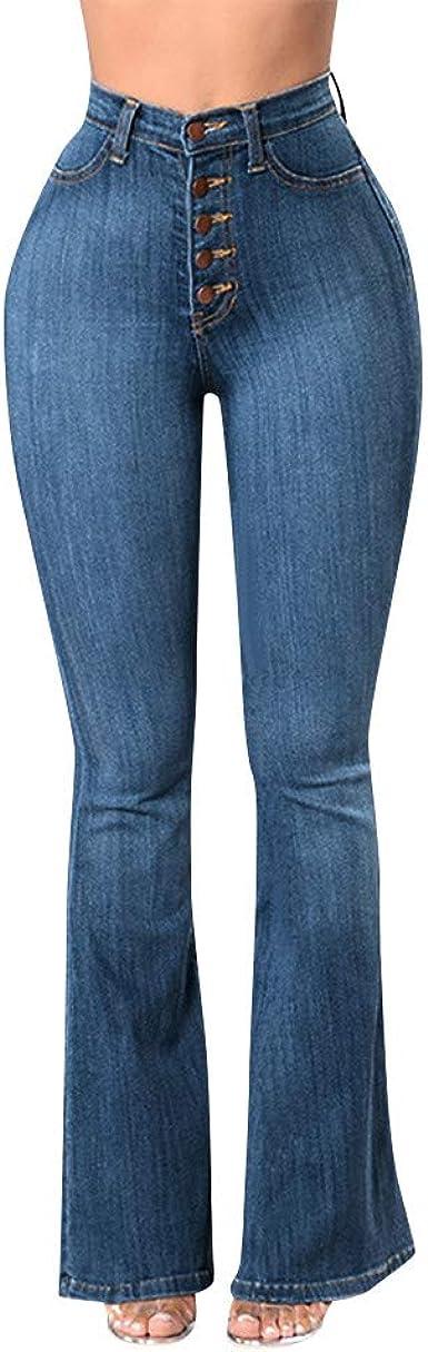 Jean Femme Bootcut Taille Haute Pantalons En Jean Taille Haute Slim Elastique Jeans Coupe Droite Denim Pantalon Flare Lache Bouton De Poche Decontracte Bazhahei Amazon Fr Vetements Et Accessoires