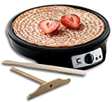 Chefman 12' Electric Crepe Maker & Griddle, Precise Temperature Control for Perfect Crepes, Blintzes, Pancakes, Eggs, Bacon and more, Non Stick, Includes Batter Spreader & Spatula