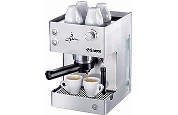 Saeco - Cafetera Espresso Aromainox Ri937601 Manual, 15 Bares,Deposito Agua 2,5L, Tubo Vapor Plastico, Calienta Tazas. Inox.: Amazon.es: Hogar