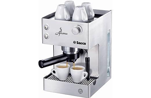 Saeco - Cafetera Espresso Aromainox Ri937601 Manual, 15 Bares,Deposito Agua 2,5L, Tubo Vapor Plastico, Calienta Tazas. Inox.