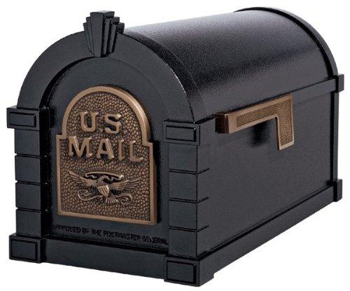 (Gaines Original Series Keystone Mailbox In Black/Antique Bronze)