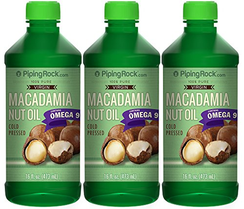 Macadamia Nut Oil 3 Bottles x 16 fl oz Cold Pressed 100% Pure