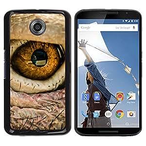 TECHCASE**Cubierta de la caja de protección la piel dura para el ** Motorola NEXUS 6 / X / Moto X Pro ** Eye Bird Intense Macro Photo Fire