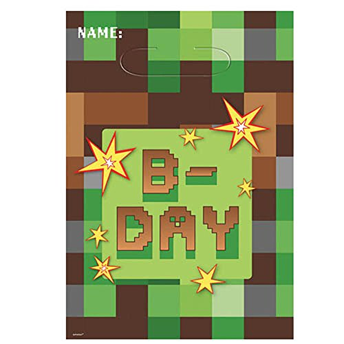 Minecraft 'TNT Party' Favor Bags (8ct) (Minecraft Party Bags)