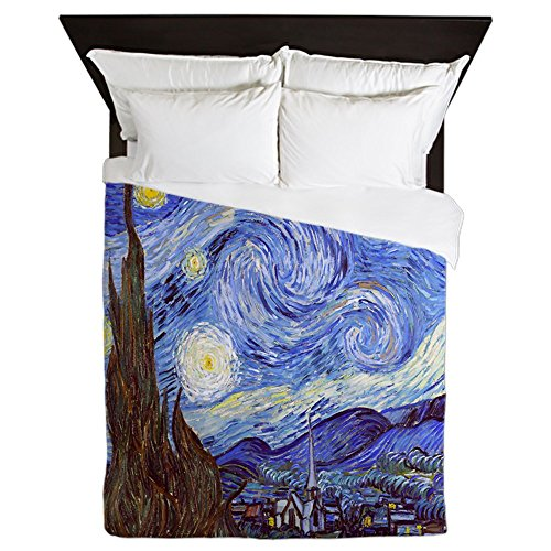 Gogh Van Bed (CafePress - Starry Night Vincent Van Gogh - Queen Duvet Cover, Printed Comforter Cover, Unique Bedding, Microfiber)