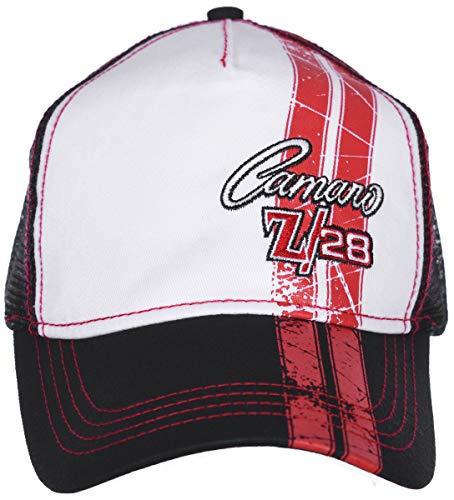 H3 Headwear Chevy Camaro Z28 Black & Red Adjustable Trucker Cap