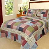 Lavish Home Savannah Quilt 3 Piece Set - Full-Queen
