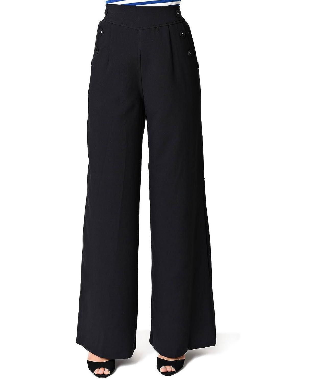 Voodoo Vixen Black Wide Leg High Waist Pants